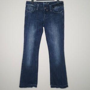 Miss Me Released Hem Boot Cut Jeans.